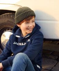 BASIC CPH's børnemodeller på fotoskydning med Jack & Jones Junior